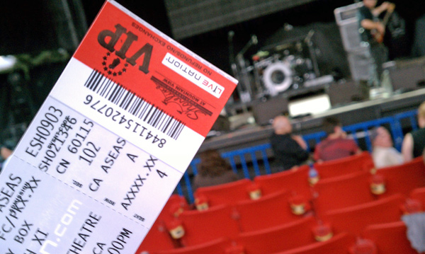 VIP Ticket for ZZ Top Shoreline