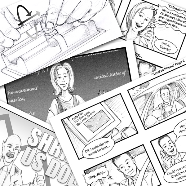 storyboard mixed media presentation samples