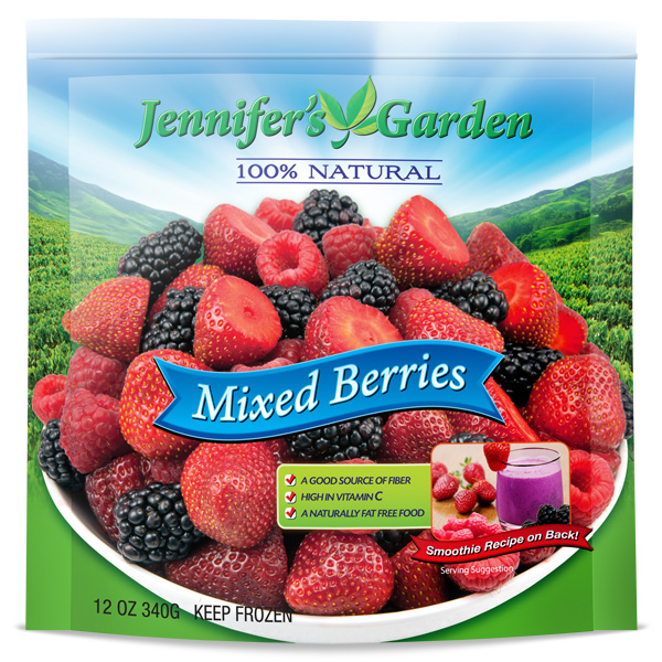 Mixed Berry Stand Up Pouch Design Jennifers Garden